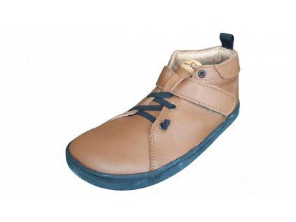 Pegres celoroční barefoot obuv BF52 hnědá