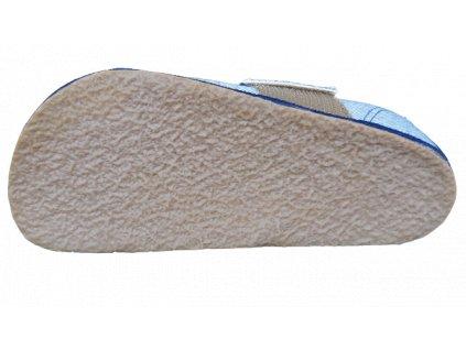 Pegres barefoot přezůvky BF01 modrá