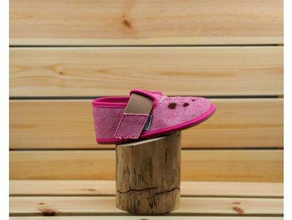 Pegres barefoot přezůvky BF03 růžová