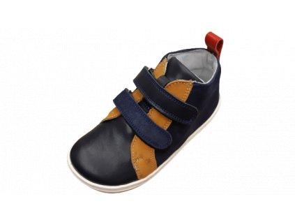 OK bare barefoot kotníková obuv LIME Blue BF D 2250 - 113
