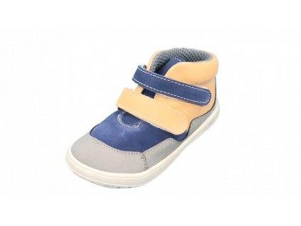 Jonap celoroční barefoot obuv Bella M modrobéžová