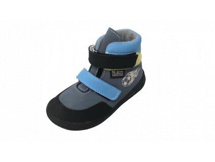 Jonap celoroční barefoot obuv Jerry s membránou modromodrá