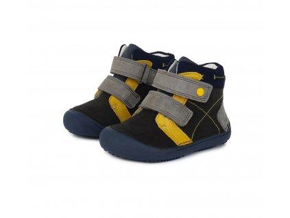 D.D.step celoroční barefoot obuv A063-121L Black