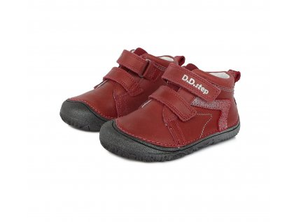 D.D.step celoroční barefoot obuv S073-504BM red