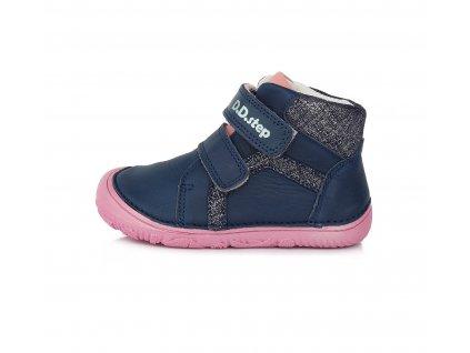 D.D.step celoroční barefoot obuv A073-874M Royal Blue
