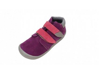 Beda celoroční  barefoot obuv Mia vyšší s membránou na suchý zip 0001/WM/2
