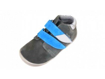 Beda celoroční  barefoot obuv Robin vyšší s membránou na suchý zip 0001/WM/2