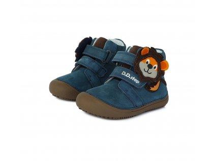 D.D.step celoroční vyšší barefoot obuv A063-661M Royal Blue