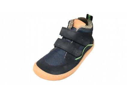 Froddo zimní kotníková barefoot obuv Dark Blue G3110194