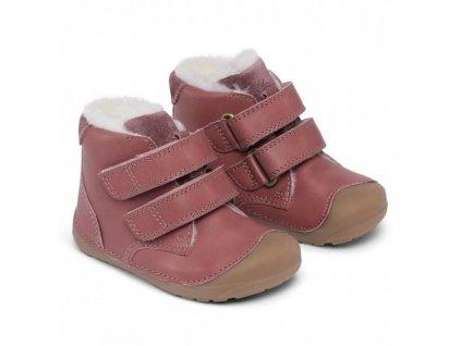 Bundgaard zimní barefoot obuv Petit Mid Winter Dark Rose WS BG303201DG/726
