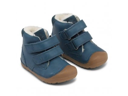 Bundgaard zimní barefoot obuv Petit Mid Winter Petrol WS BG303201DG/635