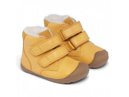 Bundgaard zimní barefoot obuv Petit Mid Winter Yellow WS BG303201DG/613