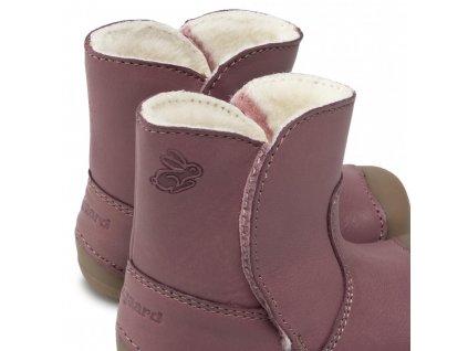Bundgaard zimní barefoot obuv Petit Winter Boot Dark Rose WS BG303200/726