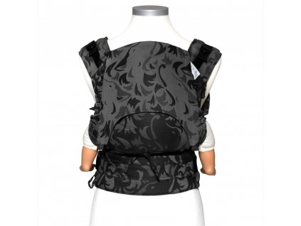 baby size fusion baby carrier with buckles classic wolf anthracite