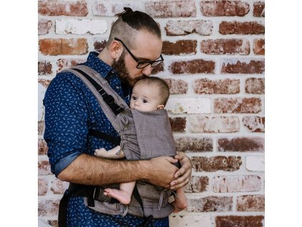 baby size fusion baby carrier with buckles classic chevron walnut 7