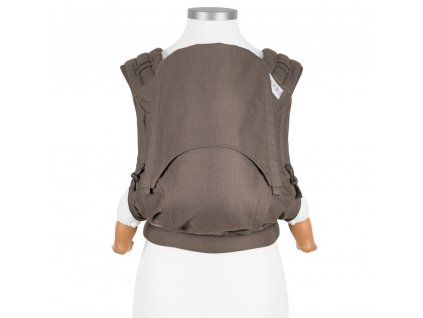 new size fly tai mei tai baby carrier classic chevron walnut
