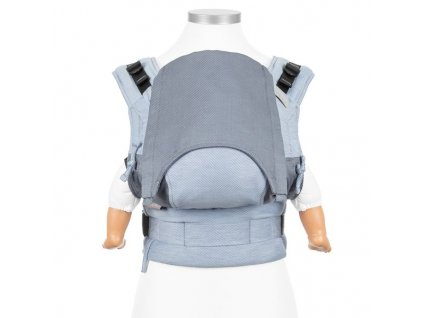 baby size fusion baby carrier with buckles classic lines light blue