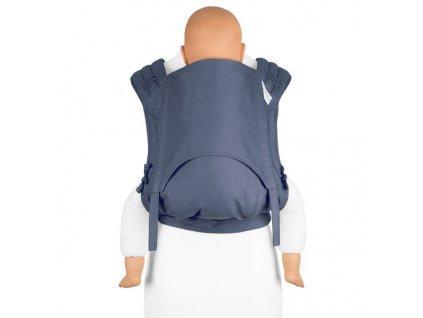 fidella flyclick plus baby carrier classic chevron denim blue