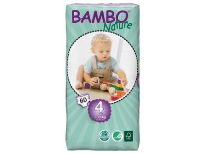 Bambo Nature 4 Maxi, 60ks, pro 7 18 kg