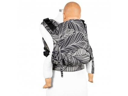 fusion fullbuckle baby carrier dancing leaves black white baby