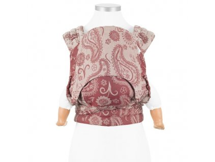 baby size fly tai mei tai baby carrier classic persian paisley ruby red