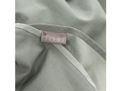 Šátek na nošení dětí Fidella - Chevron Agave Green