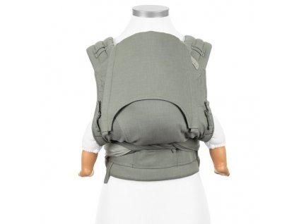 ergonomické nosítko fidella flyclick half buckle babytrage chevron graugrun baby