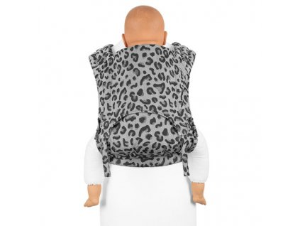 flyclick plus halfbuckle baby carrier leopard silver toddler