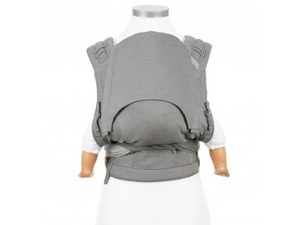 ergonomické nosítko fidella flyclick half buckle babytrage chevron gray baby