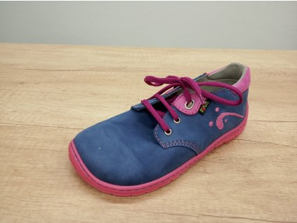 Fare Bare dětské celoroční barefoot boty s tkaničkami 5212251