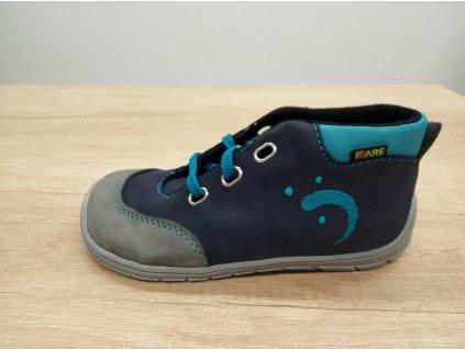 Fare Bare vyšší dětské celoroční boty s flísem s tkaničkami 5121201