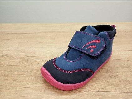 Fare Bare vyšší dětské celoroční barefoot boty s flísem 5121251