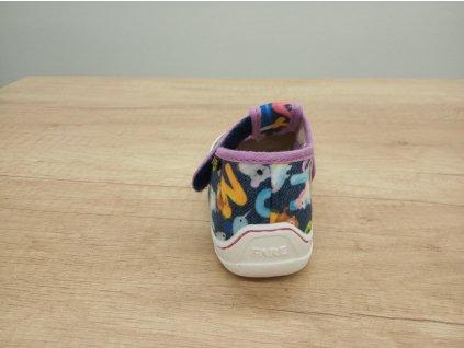 Fare Bare dětské papuče FIALOVÉ  na suchý zip 5102491