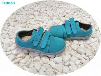 Beda celoroční barefoot obuv Tobias nízký na suchý zip