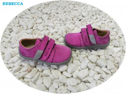 Beda celoroční barefoot obuv Rebecca nízký na suchý zip