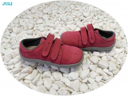 Beda celoroční barefoot obuv Juli nízký na suchý zip
