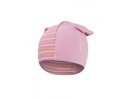 Little Angel Čepice smyk dlouhá Outlast® střední růžová - pruh střední růžový úzký