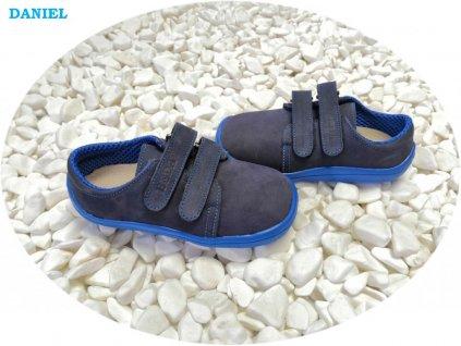 Beda celoroční barefoot obuv Daniel nízký na suchý zip