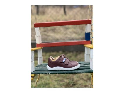 Baby Bare Shoes barefoot celoroční obuv Febo Spring Bordo