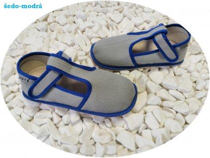 Beda barefoot přezůvky SLIM šedá 060010/W/02