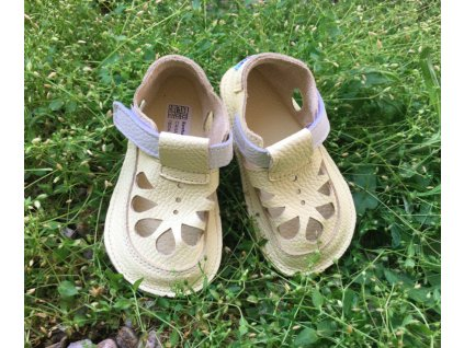 Baby Bare Shoes barefoot sandály/přezůvky Summer Perforation  Canary