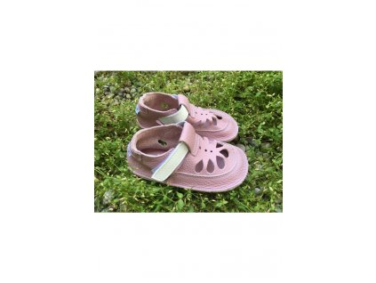 Baby Bare Shoes barefoot sandály/přezůvky Summer Perforation Candy