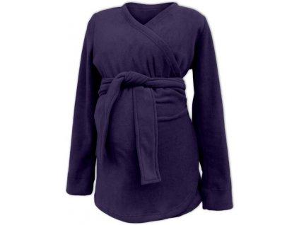 Jožánek nosící zavinovací kabátek Zina tmavě fialová