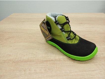 Fare Bare barefoot zimní boty s membránou zelené 5143231