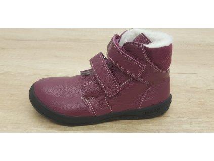 Jonap zimní barefoot obuv B4/MV vínová