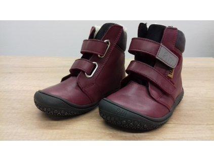Filii Himalaya nappa tex berry velcro M zimní obuv s membránou 192022-WX11