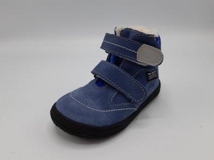 Jonap zimní barefoot obuv B5/SV s membránou modrá