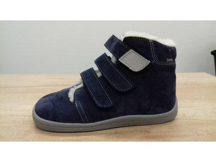 Beda vyšší zimní barefoot obuv Lucas s membránou na suchý zip 0001/WMK/40002