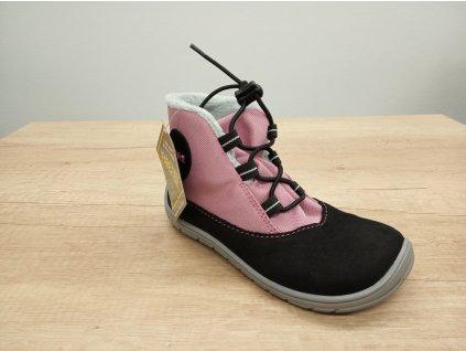 Fare Bare barefoot zimní boty s membránou růžové 5243251