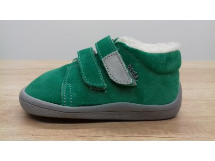 Beda zimní barefoot obuv Sam s membránou a kožíškem na suchý zip 0001/WMK/40003